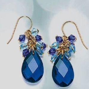 Blue earings.